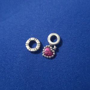 Pandora charm and spacer